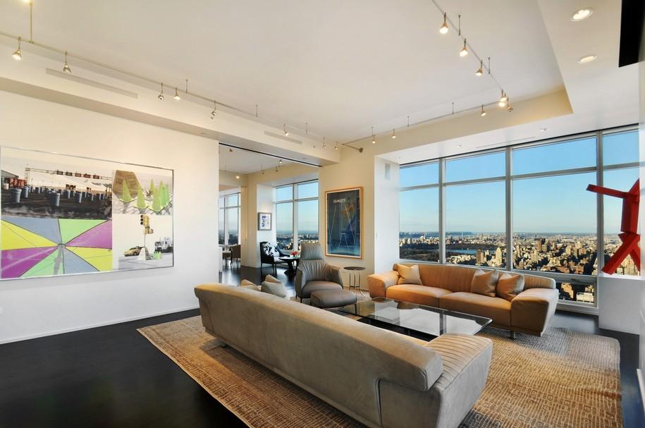Дизайн студия квартира с панорамными окнами
