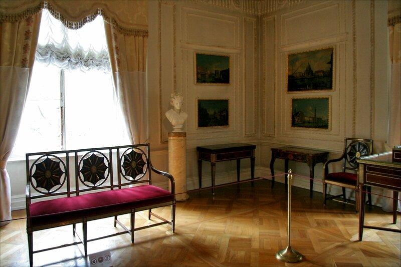 Павловский дворец, жилые комнаты I этажа, Бильярдная