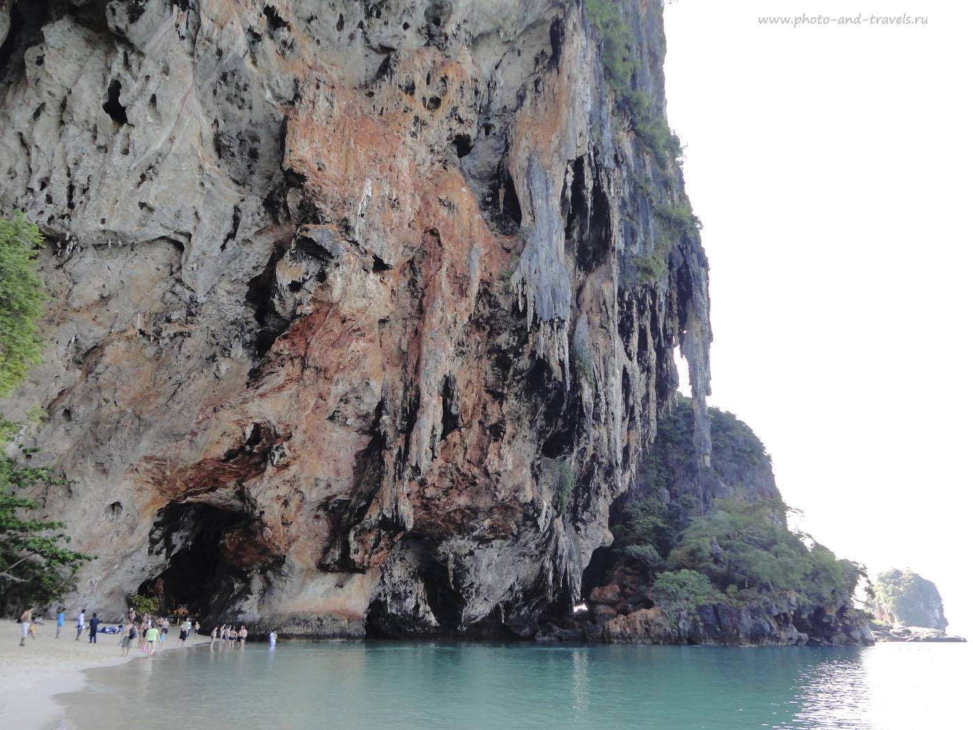 Фото 15. Отзывы туристов о самостоятельной поездке в Краби в Тайланде. Пляж Рейли (Railay Beach).