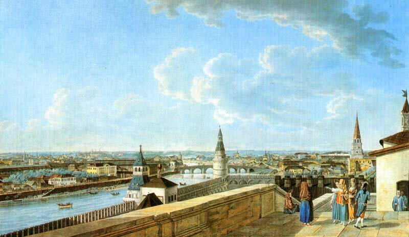 Делабарт. Вид направо с императорского балкона. 1797.