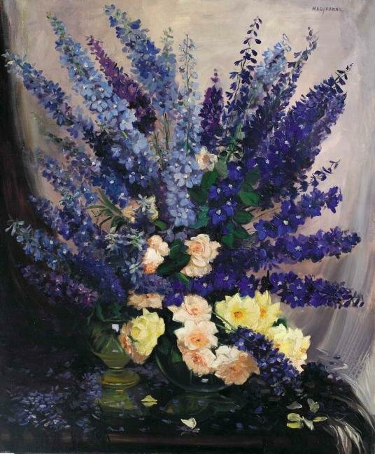 Вельде ван де Ивонн Жозефина (Velde van de Yvonne Josephina, 1896 – 1954). Дельфиниум - король синих цветов.