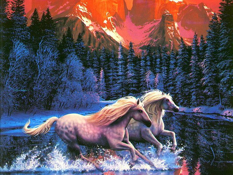 """Страшные истории -  """"Водяные лошадки.  Кельтская мифология """"."""