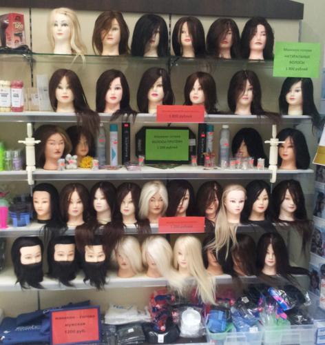 Голова-манекен с волосами купить