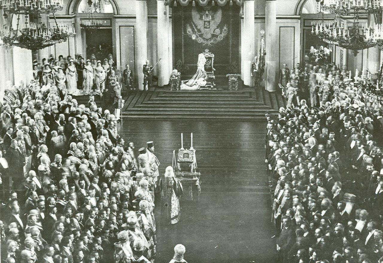 Молебен в день торжественного открытия Государственного Совета и Первой Государственной думы в Зимнем дворце