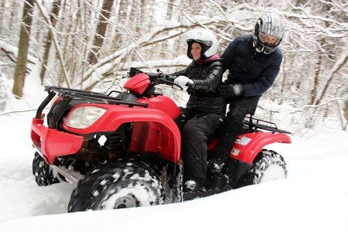 Сафари на квадроциклах зимой