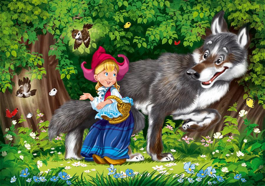 сказки и картинки про серого волка длинные