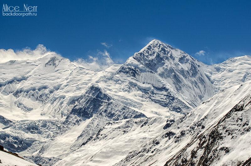 снежные пики, горы, гимлаи, снег в горах