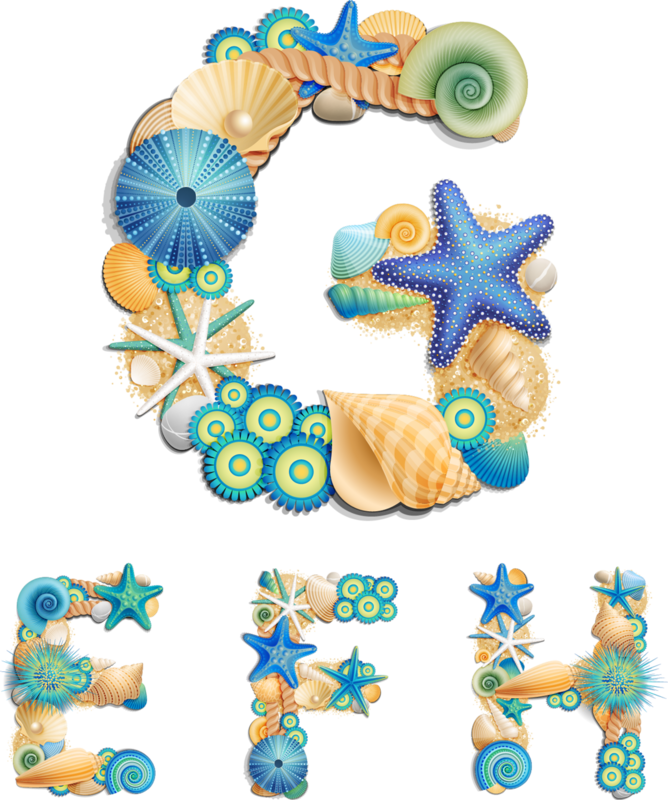 Sea life font on sand background vector (3).png
