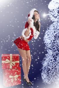 Сексуальная снегурочка и дед мороз шаблон