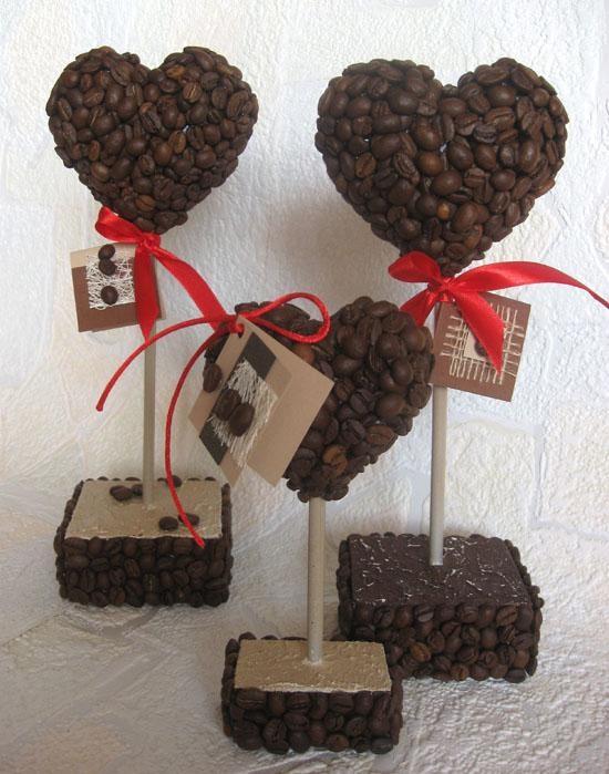 Поделки с кофейных зерен своими руками 54
