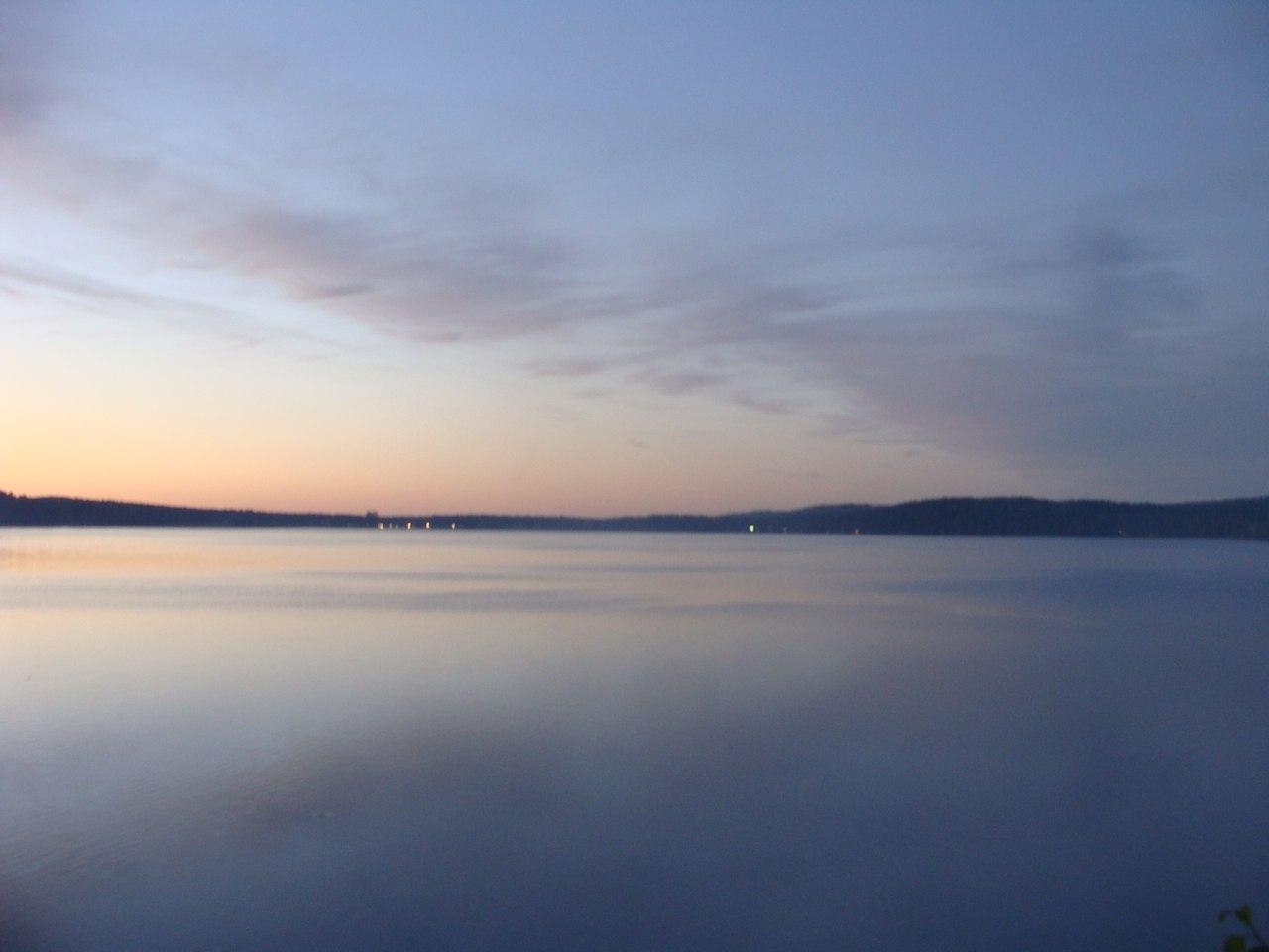 Сумерки на озере Аракуль (07.03.2013)