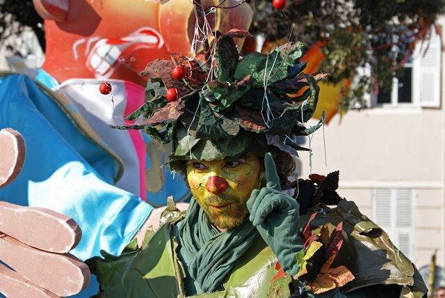 Costumed for carnival
