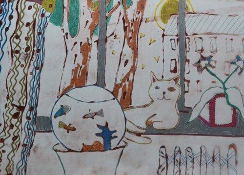 """Диплом 3 степени - Авдюшева Диана, 9лет """"Тихое утро"""". см. техн. рук.Закиева Э.И. ДШИ г.В.Тура"""