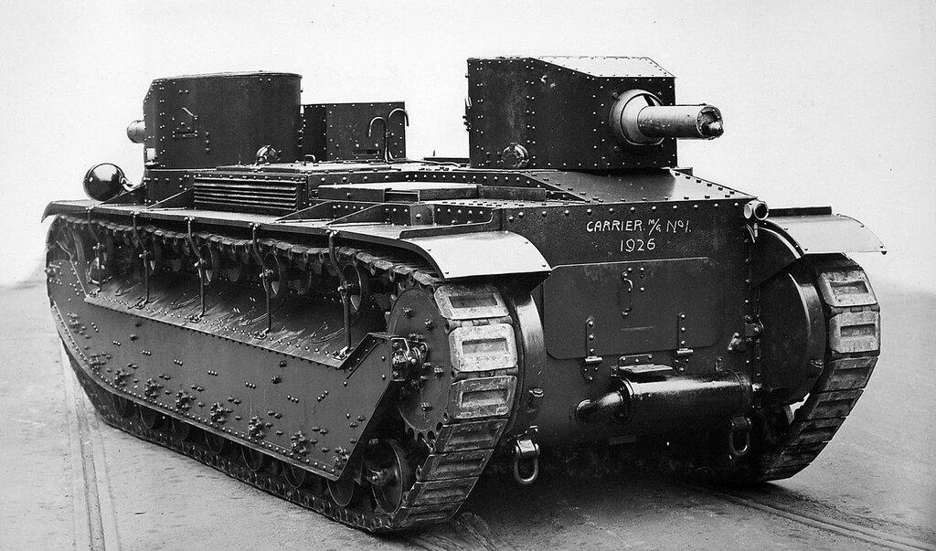 """Machine Gun Carrier №1 experimental """"Three Man Tank"""", 1926"""