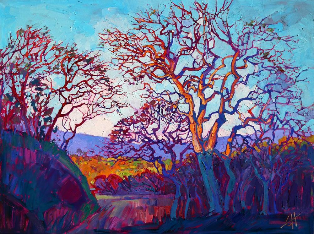 Абстрактные разноцветные пейзажи