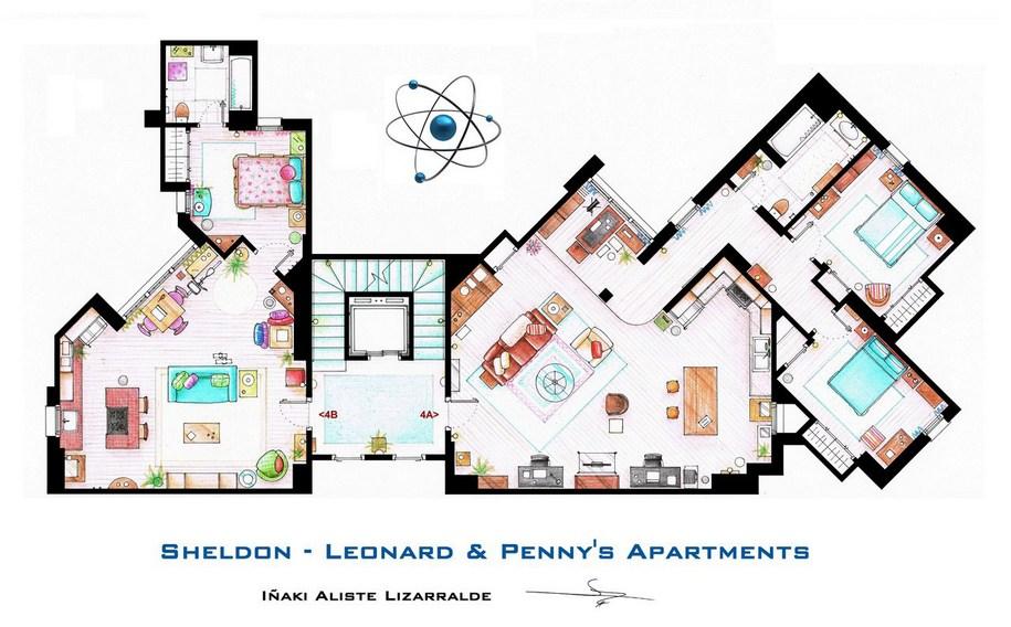 Апартаменты Шелдона, Леонарда и Пенни из популярного сериала «Теория большого взрыва»