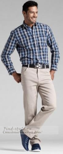 Кремово-серые мужские брюки