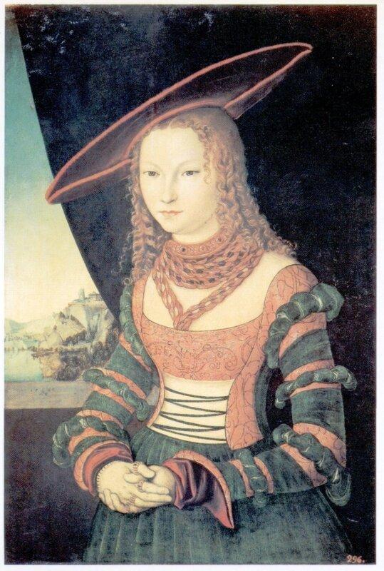 Картины старых мастеров, Лукас Кранах Старший, Женский портрет