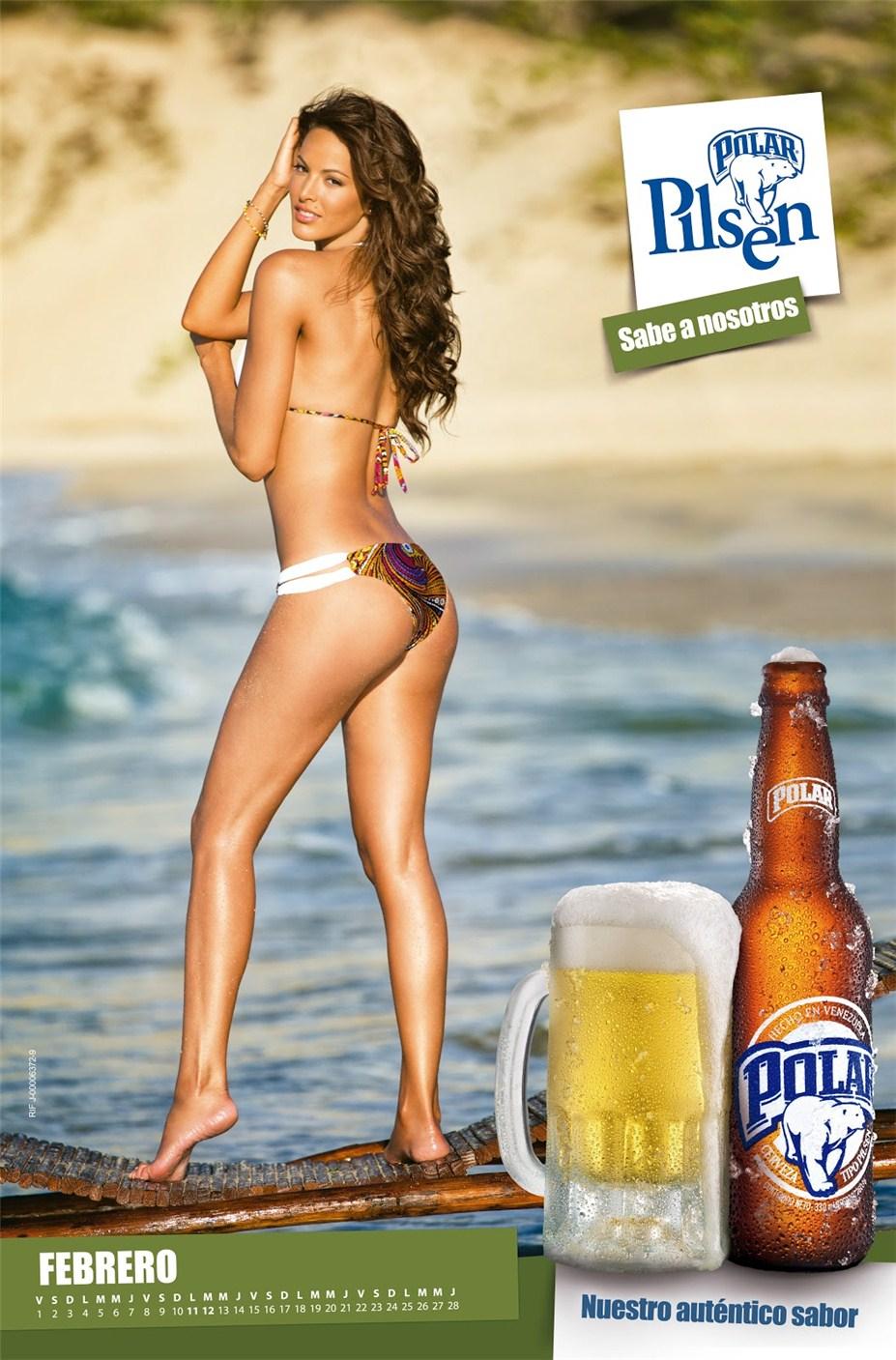 Девушки в купальниках в календаре пива Polar Pilsen на 2013 год