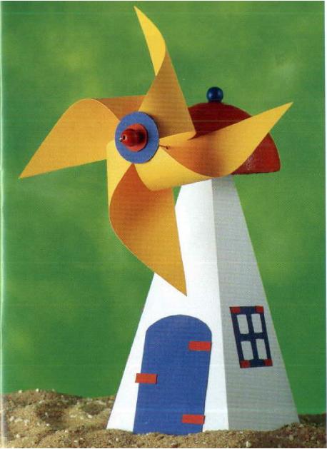 Ветряная мельница детская игрушка своими руками 13