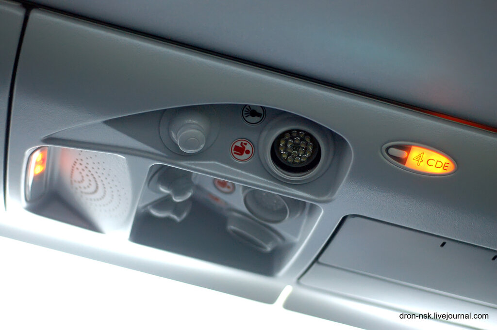Верхняя панель пассажиров.