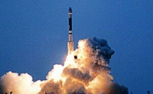 Запуск ракеты-носителя «Ынха-3»
