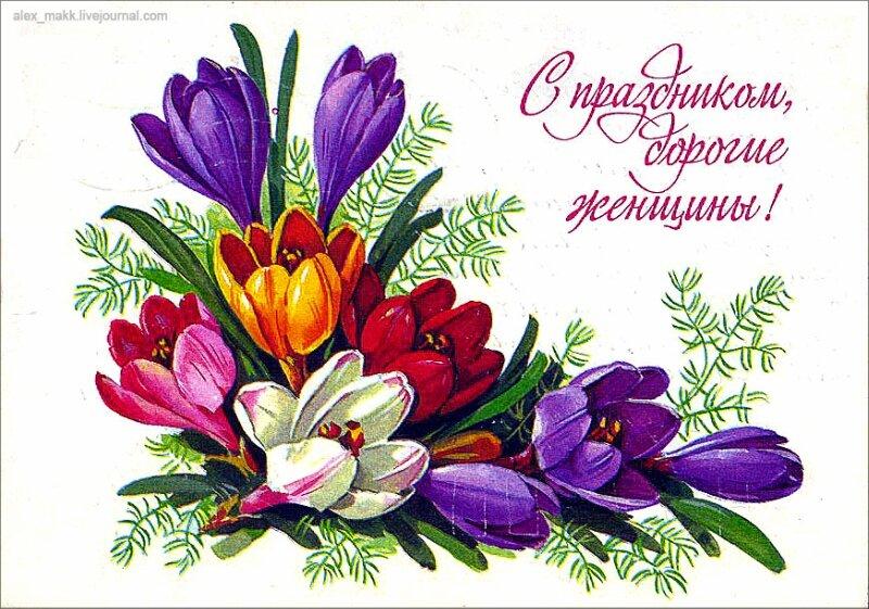 Виноградная лоза, открытка к 8 марта цветок