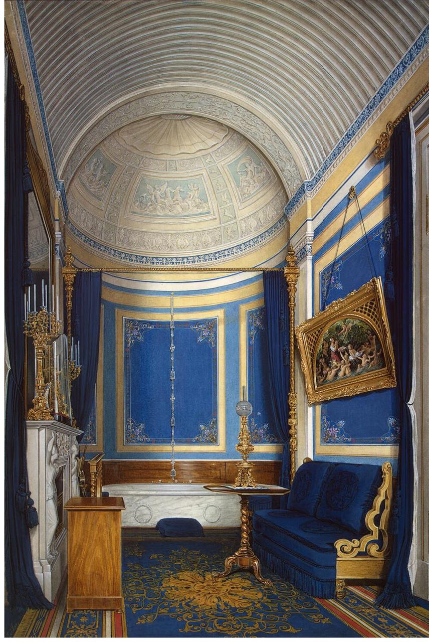 Интерьеры Зимнего дворца. Ванная комната великой княжны Марии Александровны