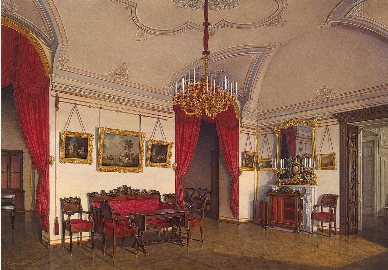 Интерьеры Зимнего дворца. В гостиной