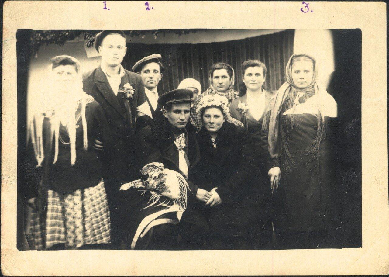 1949. Украина. Сельская свадьба.