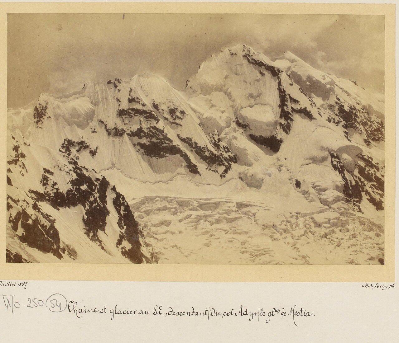Цепь ледников на перевале Адир и ледник Местия