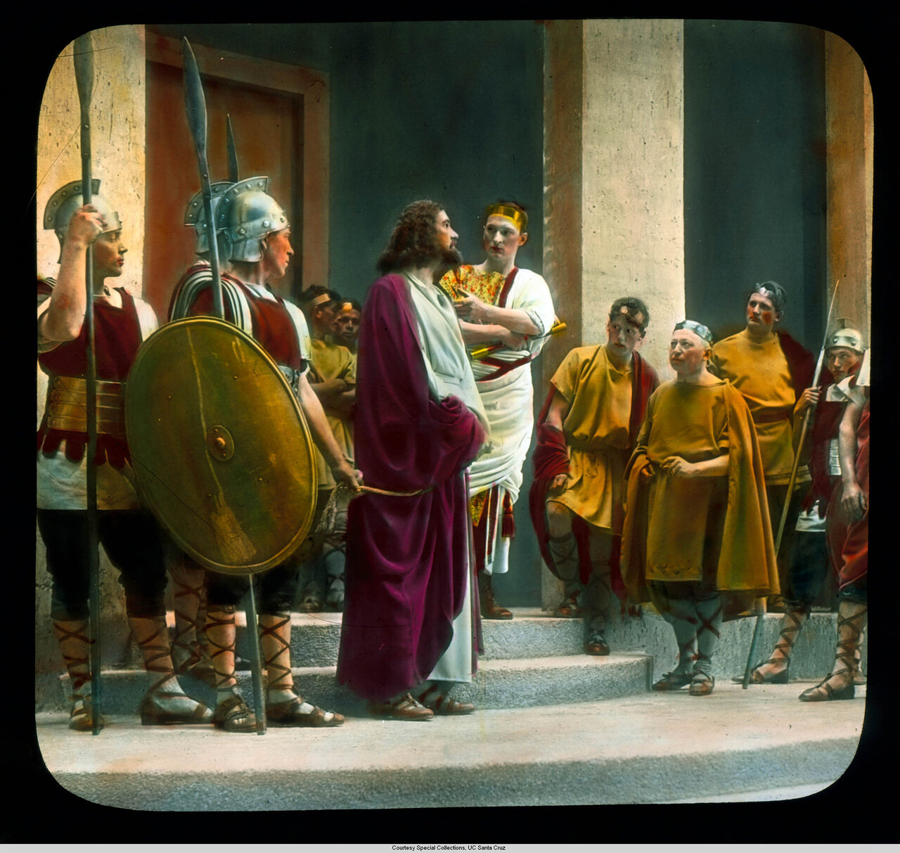 Обераммергау. Страсти Христовы. Христос перед Пилатом