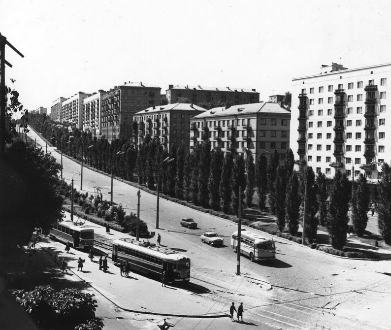 1960-е. Начало бульвара Леси Украинки. Фото: Плаксин М.