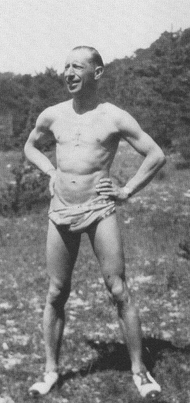 Igor Stravinsky poses for a photograph somewhere near Le Lavandou, Summer 1925. Photo by Vera de Bosset.