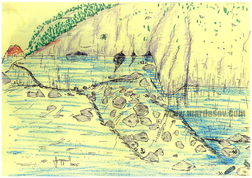 Грот Сифон - Ушаковская Стенка (глубина до 45м)
