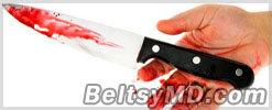 Мужчина 18 лет прожил с лезвием ножа в голове