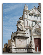 Италия. Флоренция. Monument Dante before a cathedral Santa Crose in Florence. Italy. Фото evgeniapp - Depositphotos
