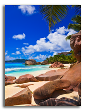 Сейшелы. Tropical beach at Seychelles. Фото Nikolai Sorokin - Depositphotos