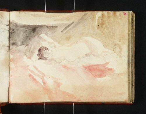 Sleeping Nymph circa 1834 by Joseph Mallord William Turner 1775-1851