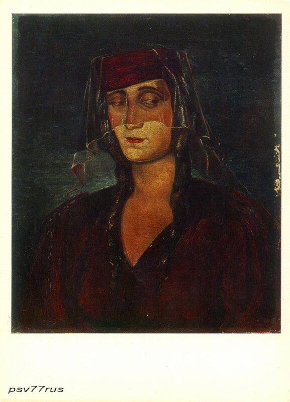 Портрет Н. Гудиашвили. 1937г. Холст, масло 49Х41