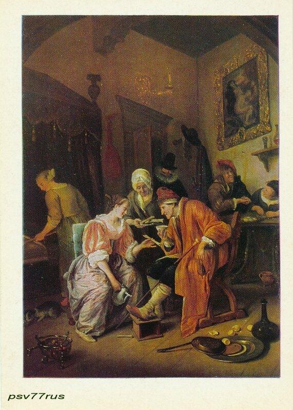 Больной старик.  Ян Стен (1625/26-1679). Голландская школа.