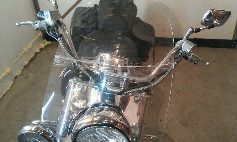Сделать ветровое стекло мотоцикла своими руками
