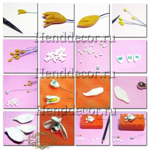 Подснежники из полимерной