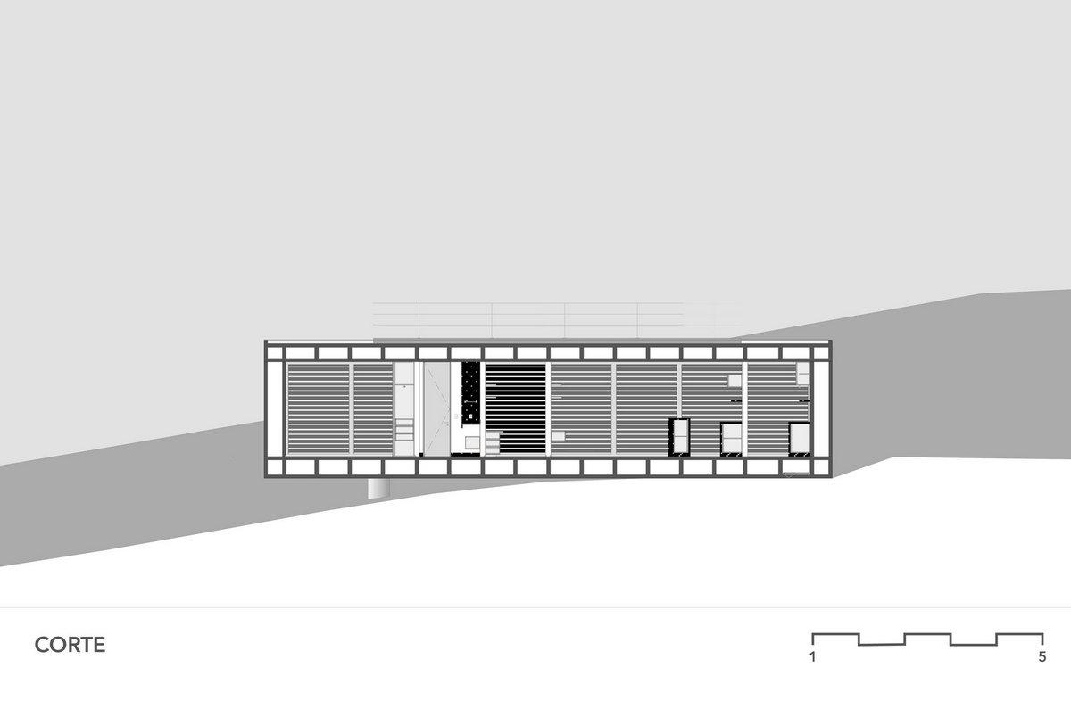 3.4 Arquitetura, дом из бетона, планировка частного дома, проект частного дома, особняки в Бразилии, Solar da Serra, дом с красивым видом из окон
