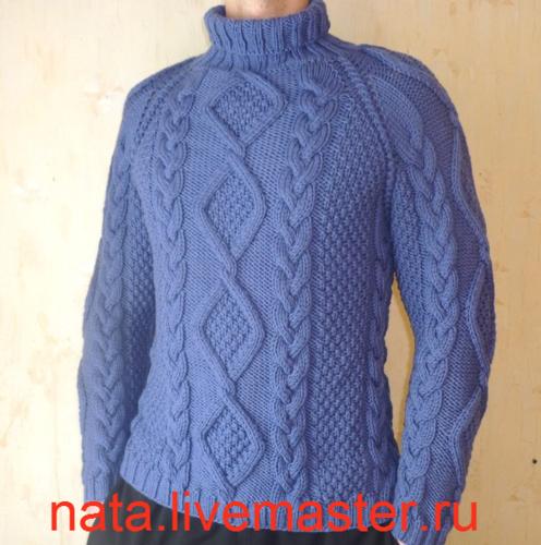 Тема: Мужской белый свитер