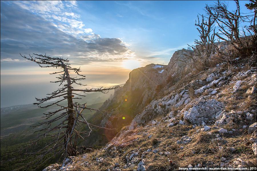 Вечернее солнце Ай-Петри