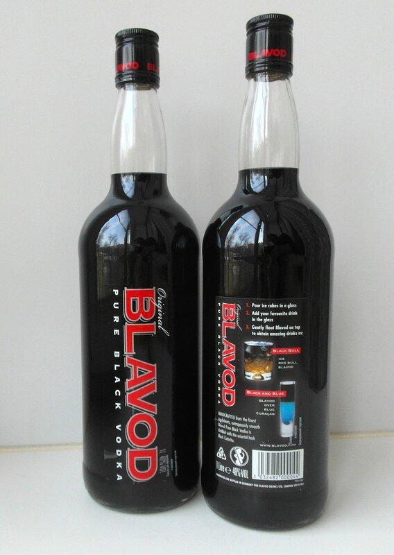 Black vodka.