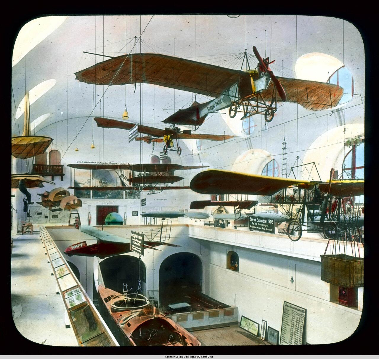Мюнхен. Германский музей. Зал авиации