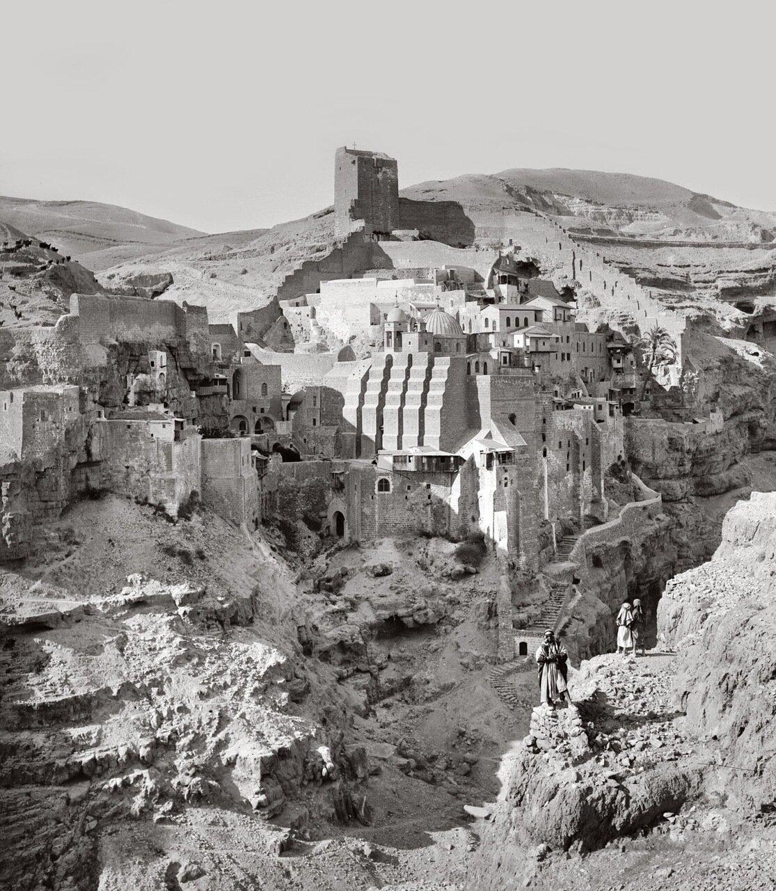 Вид Лавры Саввы Освященного. Кедрон, Палестины 1900-1920