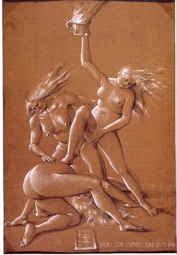 Ганс Бальдунг, Три ведьмы. около 1514г.